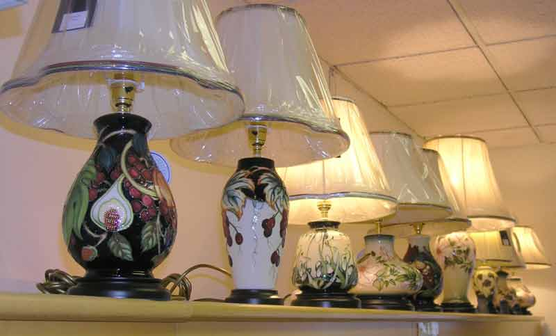 Moorcroft pottery a range of some of the moorcroft table lamps that we carry aloadofball Choice Image